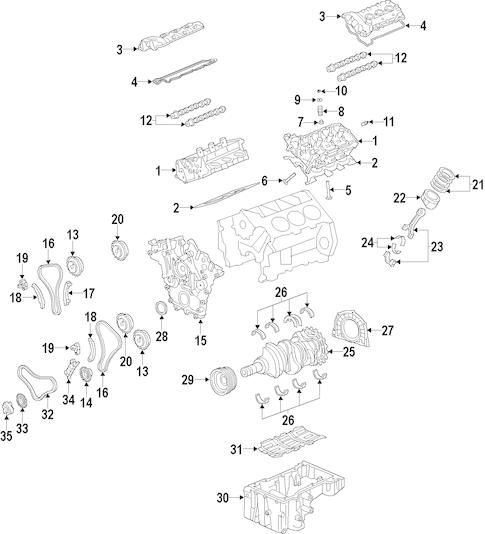 Engine for 2014 Hyundai Santa Fe