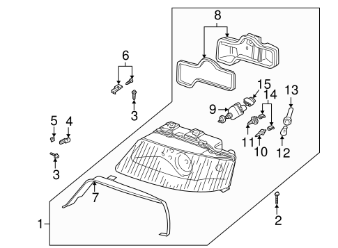 Headlamp Components for 2004 Audi Allroad Quattro