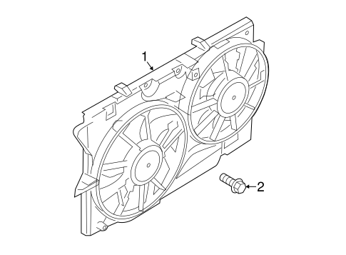 Cooling Fan for 2014 Ford Police Interceptor Utility