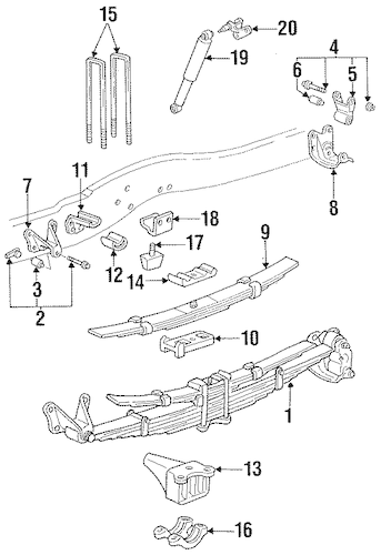 REAR SUSPENSION for 1992 Ford F-250