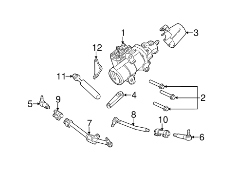 Steering Gear & Linkage for 2015 Ford F-250 Super Duty
