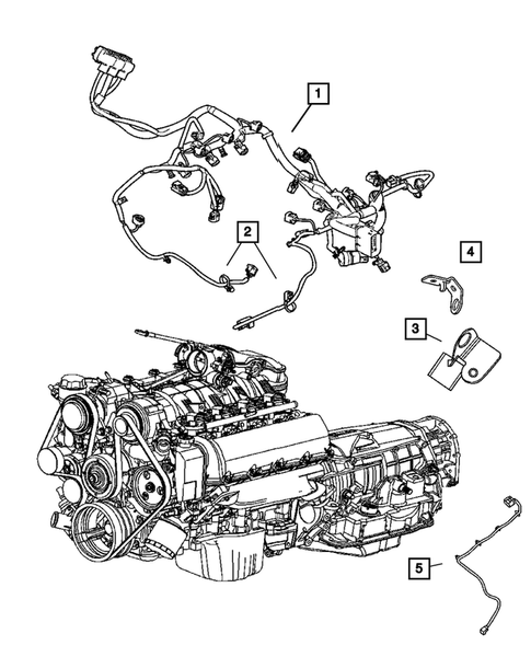 Wiring-Engine & Related Parts for 2005 Jeep Grand Cherokee