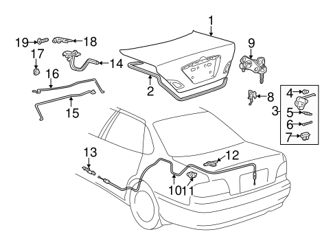 TRUNK for 2000 Toyota Avalon