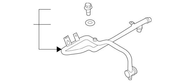 Discount Genuine OEM 2009-2012 Audi Q7 Water Pipe 059-121