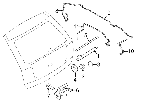 WIPER & WASHER COMPONENTS for 2008 Ford Edge