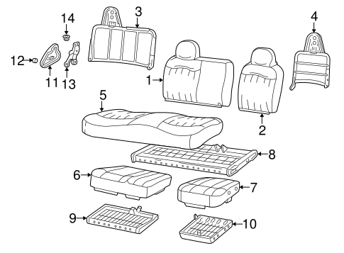 Front Seat Components for 2004 Ford F-150 Heritage