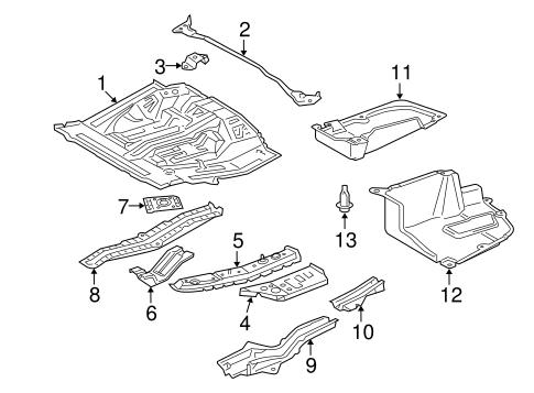 Genuine OEM Rear Floor & Rails Parts for 2009 Toyota