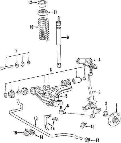 Front Suspension for 1999 Mercedes-Benz SLK 230