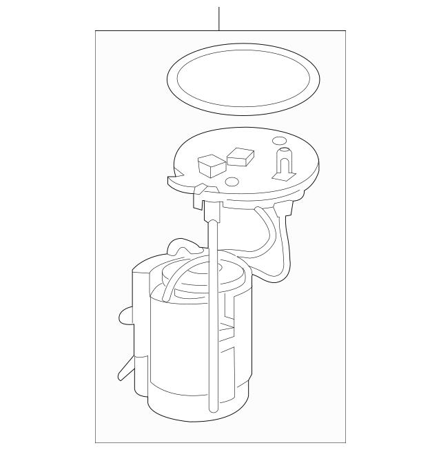 Genuine Honda Module Assembly, Fuel Pump 17045-TLA-A00