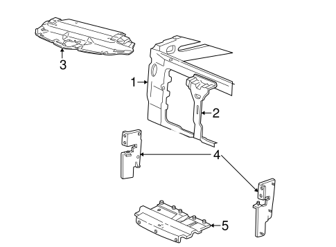 Radiator Support for 1997 Ford F-150