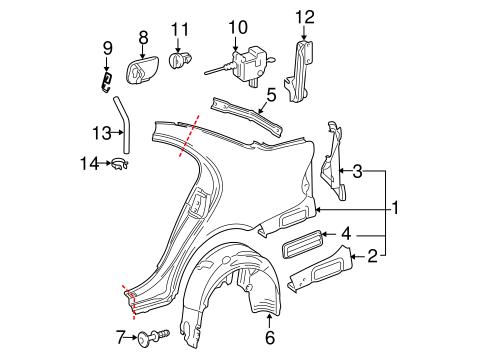 Quarter Panel & Components for 2005 Mercedes-Benz E 320