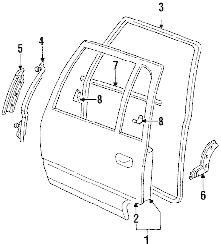 OEM Door & Components for 1994 Cadillac DeVille