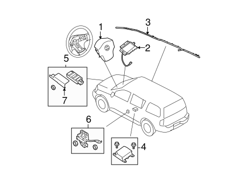 AIR BAG COMPONENTS for 2008 Nissan Titan