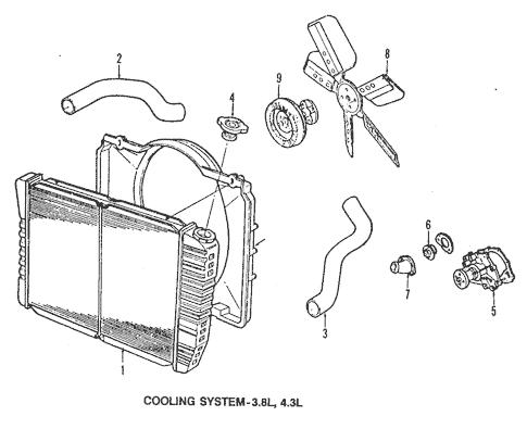 Radiator & Components for 1985 Chevrolet El Camino