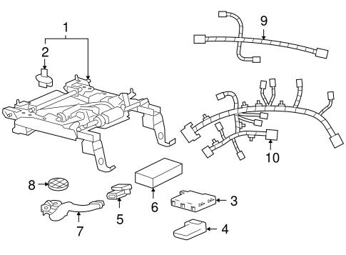 OEM 2007 Cadillac XLR Tracks & Components Parts
