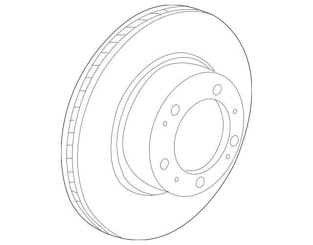 1997-2004 Porsche Boxster Rotor 986-352-401-04