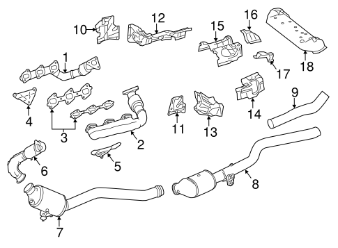 Exhaust Components for 2014 Mercedes-Benz GL 350
