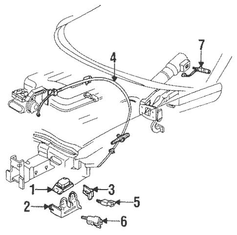 OEM 1999 Pontiac Firebird Cruise Control Parts