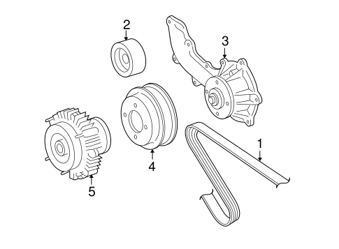 Genuine OEM Belts & Pulleys Parts for 2008 Toyota Tacoma