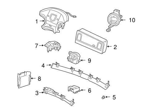 AIR BAG COMPONENTS for 2005 Dodge Ram 1500