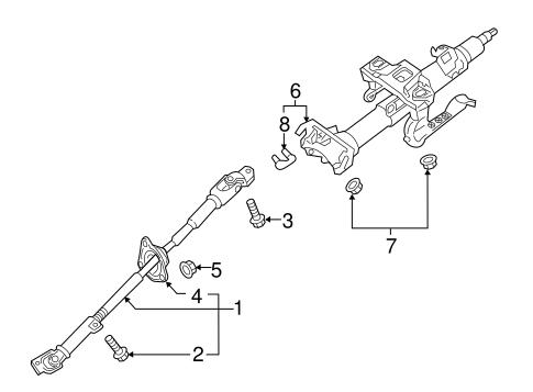 Steering Column Assembly for 2017 Mazda MX-5 Miata
