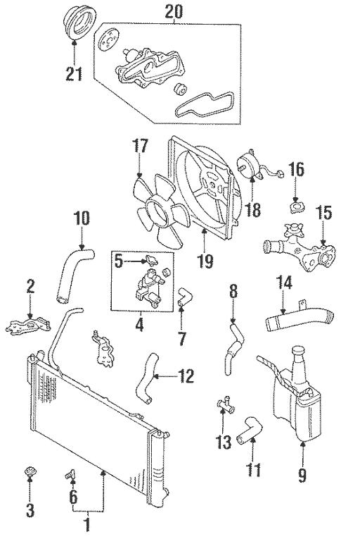 [DIAGRAM] For 96 Mazda 626 Coolant Diagram FULL Version HD