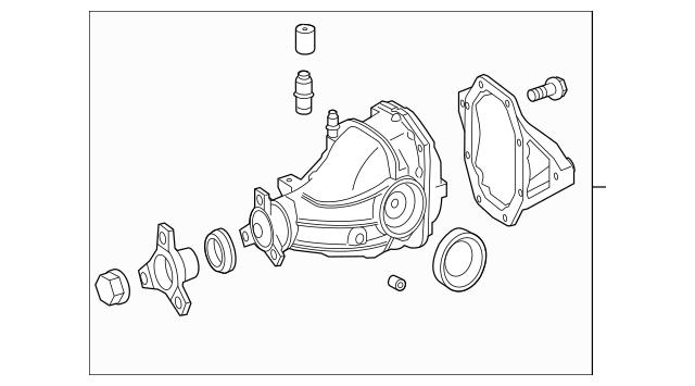 Mercedes-Benz Remanufactured Axle Gear Housing 204-350-04