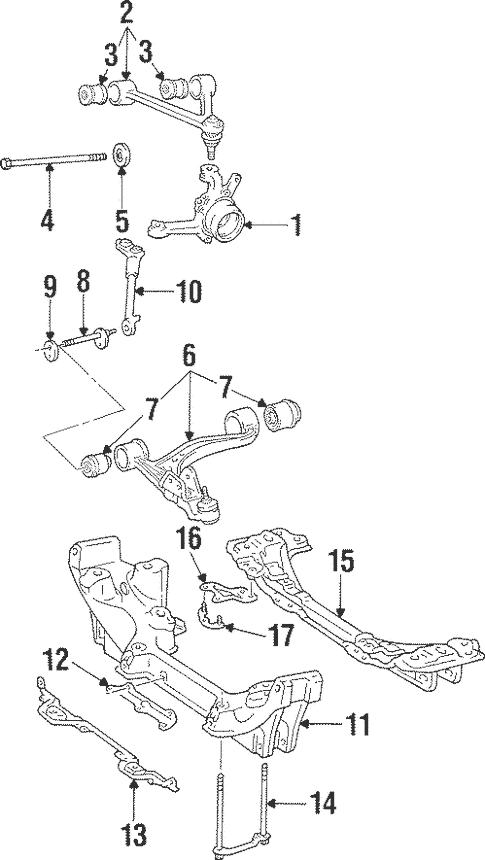 Genuine OEM Upper Control Arm Parts for 1996 Toyota Supra