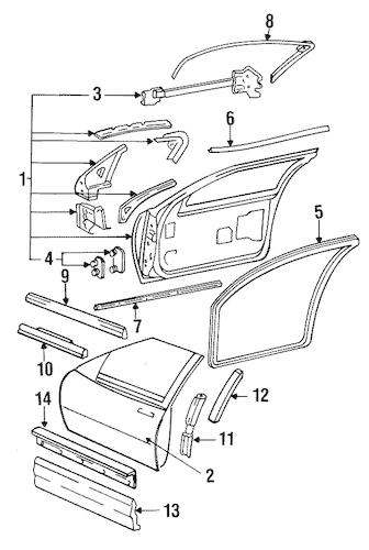 OEM 1991 Buick Regal Exterior Moldings Parts