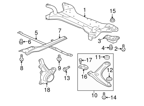 Suspension Components for 2010 Mitsubishi Lancer