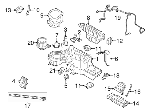 EVAPORATOR & HEATER COMPONENTS for 2014 Ford F-150