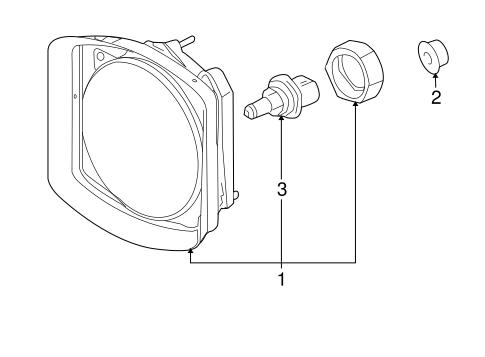 OEM 2003 Hummer H2 Headlamp Components Parts