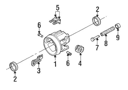 Tilt Steering Column Components for 1993 Buick LeSabre