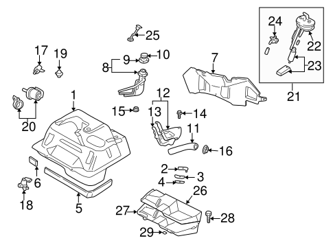 Fuel Pumps & Related Components for 1999 Mazda Miata