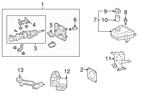 Genuine OEM Hydraulic System Parts for 2008 Toyota Prius