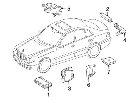 Keyless Entry Components for 2007 Mercedes-Benz CLS550