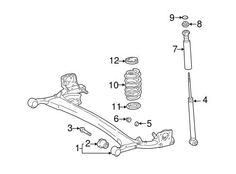 Genuine OEM Rear Suspension Parts for 2004 Scion xA Base