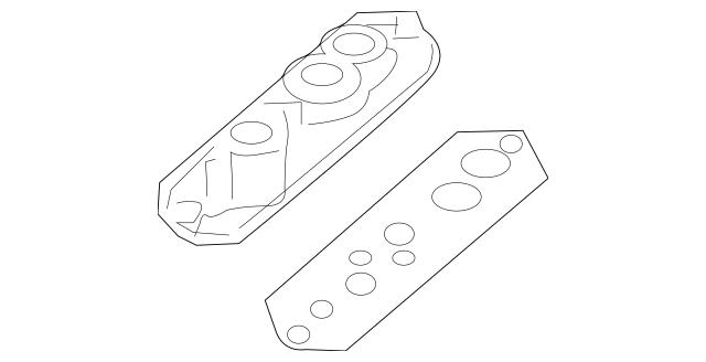 2003-2010 Porsche Cayenne Plate 955-572-076-00