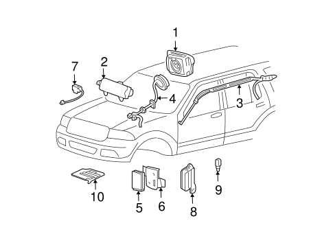 AIR BAG COMPONENTS for 2003 Ford Expedition