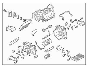2011-2012 Nissan Leaf AC & Heater Assembly 27210-3NA1A