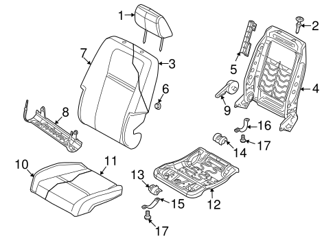 Passenger Seat Components for 2010 Dodge Journey Parts