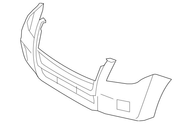 2008-2011 Mercury Mariner Bumper Cover AE6Z-17D957-APTM