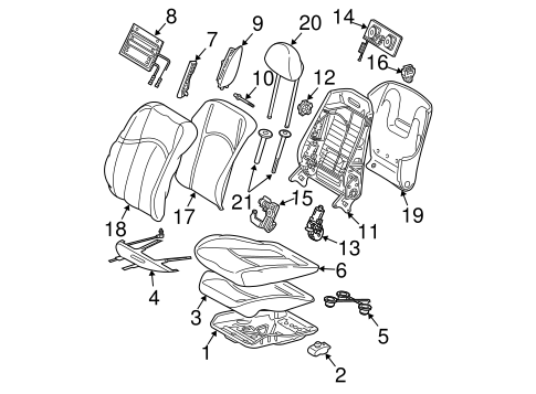 Front Seat Components for 2003 Mercedes-Benz E 55 AMG