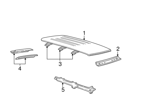 ROOF & COMPONENTS for 1999 Ford Explorer