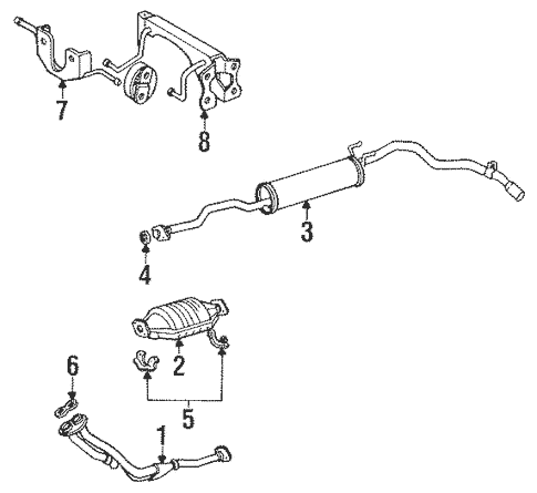Genuine OEM Exhaust Components Parts for 1988 Toyota