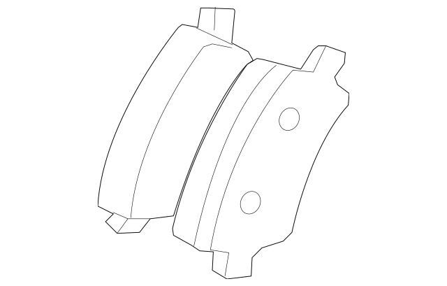 Buy this Genuine 2007-2016 Volvo S80 Rear Pads 30671576