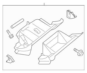 2012-2013 Nissan Altima Glove Box Assembly 68500-ZX10A