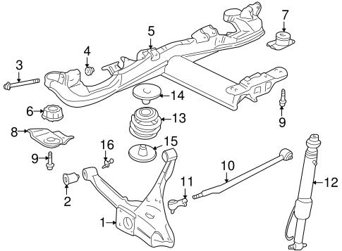 OEM 2000 Cadillac Seville Rear Suspension Parts