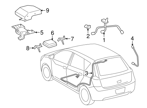 OEM Communication System Components for 2009 Pontiac Vibe