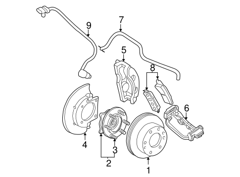 OEM 2002 GMC Yukon XL 1500 Front Brakes Parts